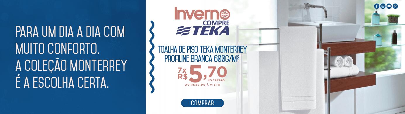 Toalha de Piso Teka Monterrey Profiline Branca 600g/m²