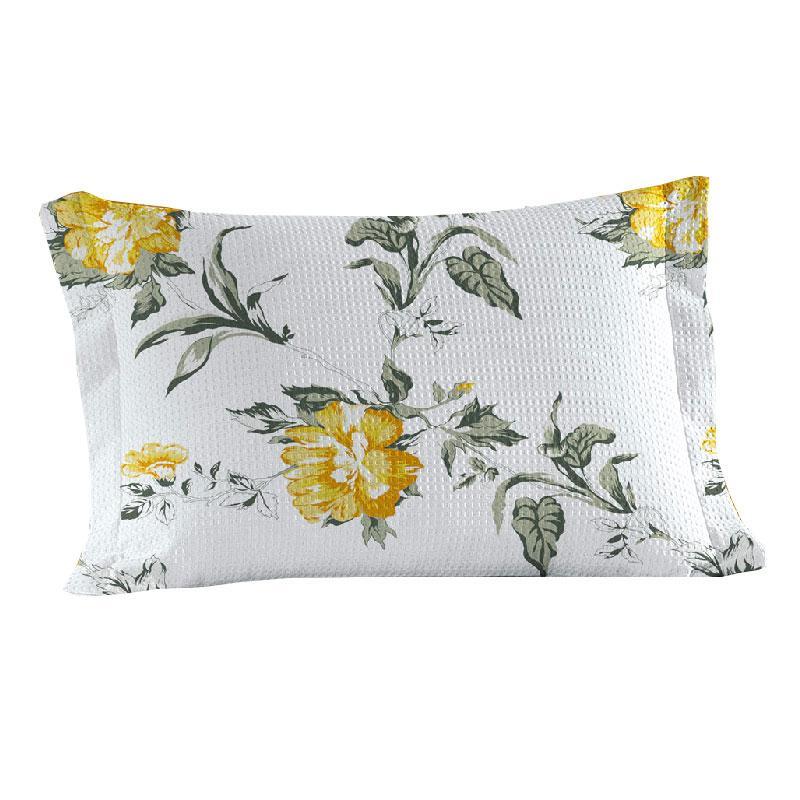 Porta Travesseiro Teka Abas Floral Josette ( 50x70cm ) - Coleção Gênova Print