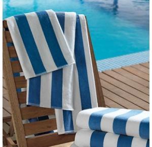 Toalha para Piscina/Praia Ibiza Listras Azul Teka - 450gm²