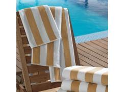 Toalhão Para Praia e Piscina Teka Ibiza Bege 86cm x 160cm