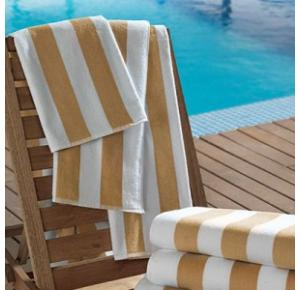 Toalha para Piscina/Praia Listras Bege Ibiza - 450gm²