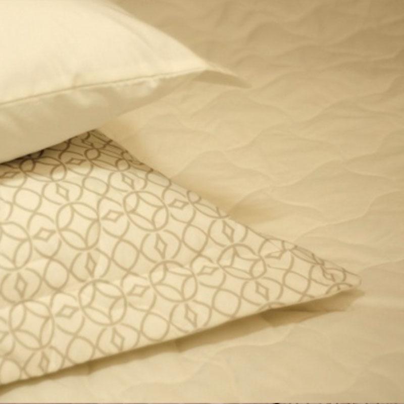 Porta Travesseiro com Abas Teka Madri Print Bege 180 Fios