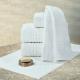 Toalha de Banho para Hotel Teka Profiline Toronto Branca 500g/m²