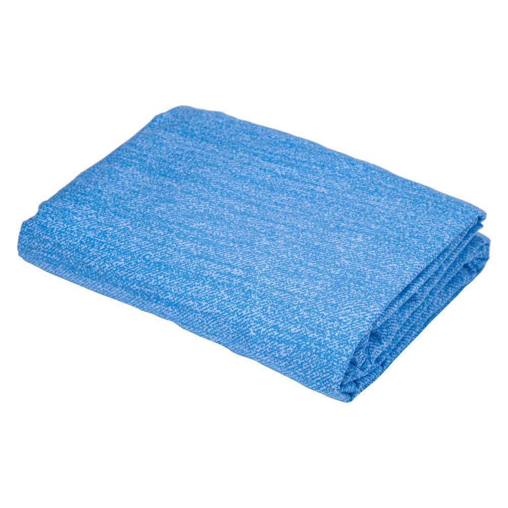 Lençol Casal com Elástico Jeans Azul Diamante - 150 fios