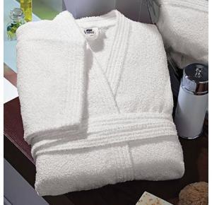 Roupão de Banho Branco Unissex Tamanho 60 | Teka -Clássica