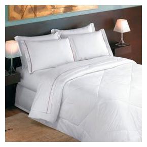 Kit 10 Lençóis Queen Branco Percal para Hotel Madri - 180 fios