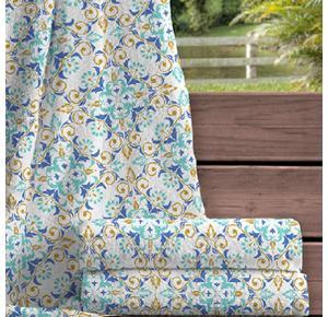 Toalha de Banho Estampada Arabesco Azul Ariel - 400g/m²