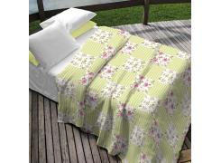 Colcha Queen Teka Allegro Plus Monica Floral Patchwork 90 Fios