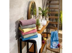 Toalha de Lavabo para Bordar Teka Criativa Beatrice Branco 360g/m²