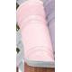 Toalha de Lavabo Criativa Cristine para Bordar Teka Rosa Claro 360g/m²