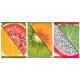 Kit com 12 Panos de Prato Teka Fiori Frutas e Sushi 12 Peças