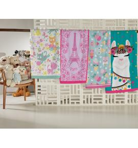 Toalha de Banho Infantil Teka Candy Cats 65cm x 115cm