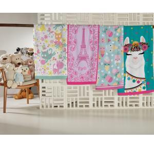 Toalha de Banho Infantil Teka Candy Lhama 65cm x 115cm