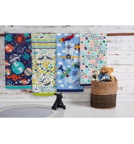 Toalha de Banho Infantil Teka Candy Space Felpuda  65cm x 115xm