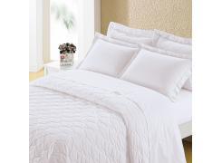 Cobre Leito Casal Branco - 250 fios-Safira