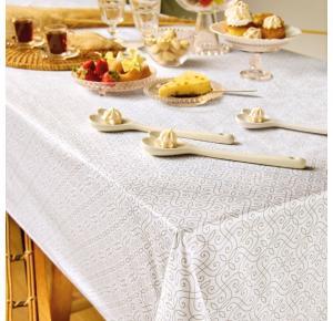Toalha de Mesa Teka Elegance Renda 140cm x 220cm