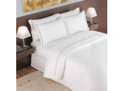 Edredom Casal Para Hotel Teka Madri Branco 180 Fios