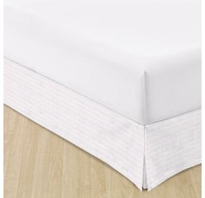 Saia Para Cama Casal Teka Allure Branca 138cm x 188cm