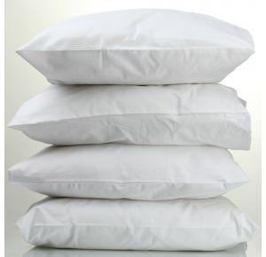Kit com 4 Travesseiros Percal Teka Oasis Branco