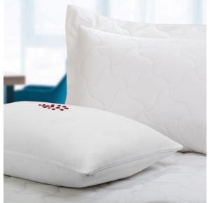 Kit com 10 Protetores de Travesseiro Teka Comfort Dry Profiline Branco para Hotel
