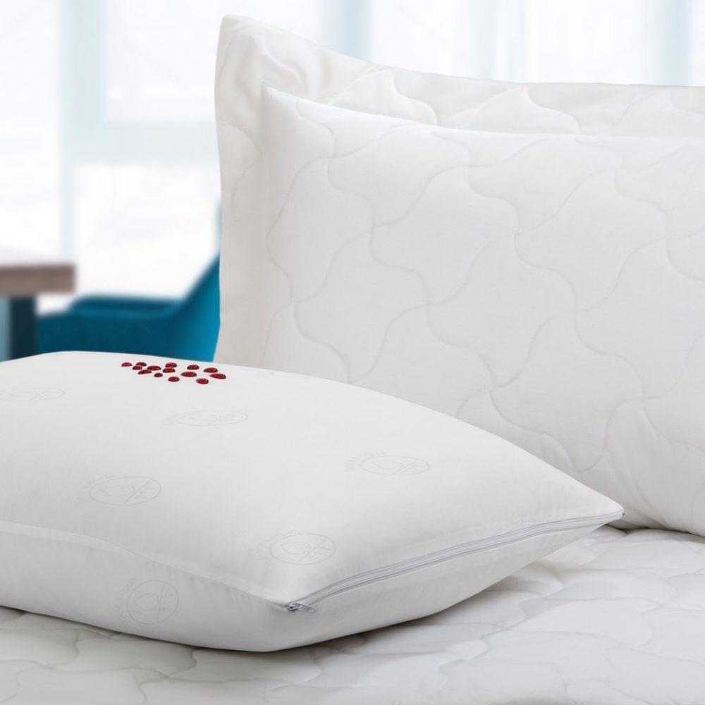 Kit Protetores de Travesseiro Teka Comfort Dry Profiline para Hotel Branco 10 Peças