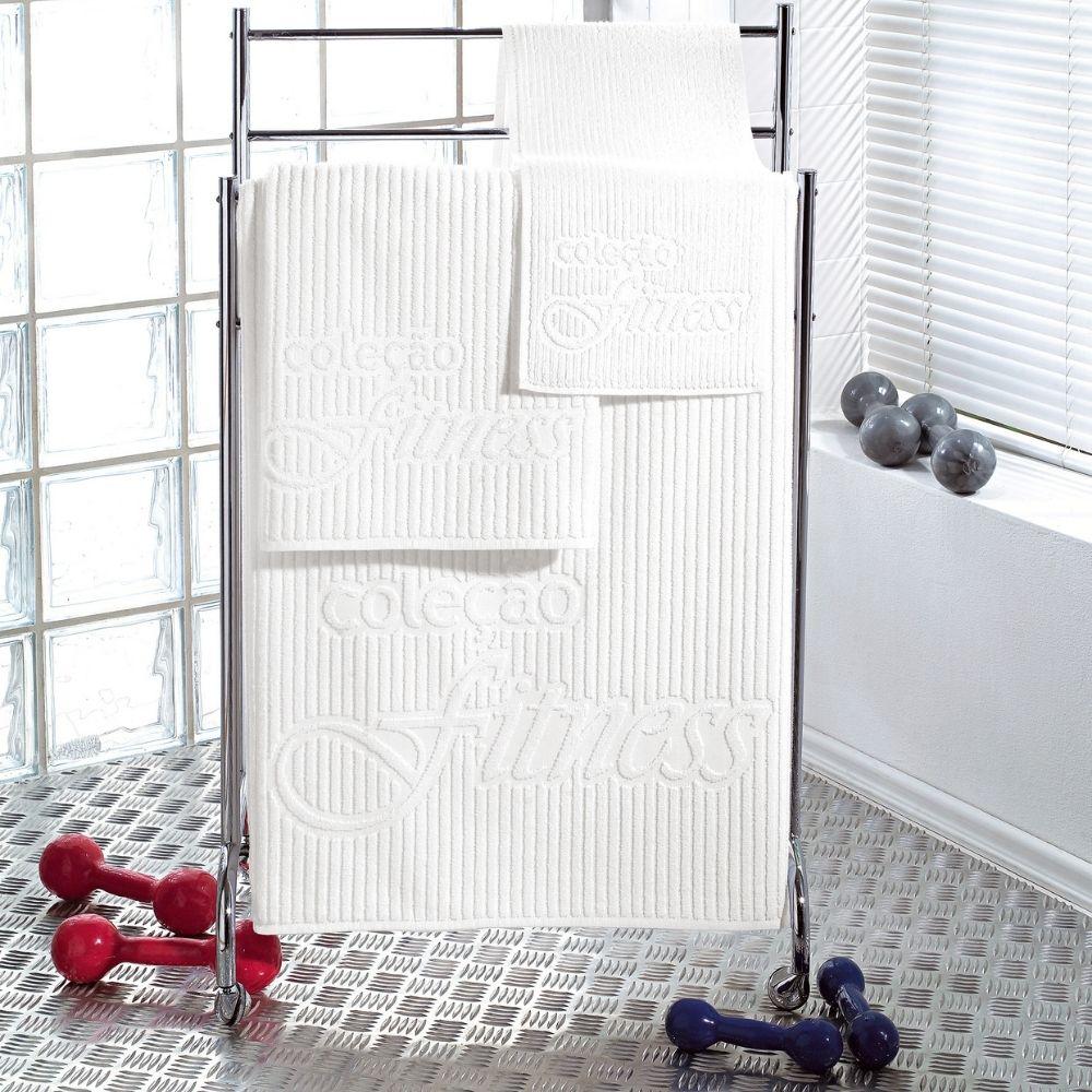 Toalha de Rosto para Academia Teka Branca 440g/m²