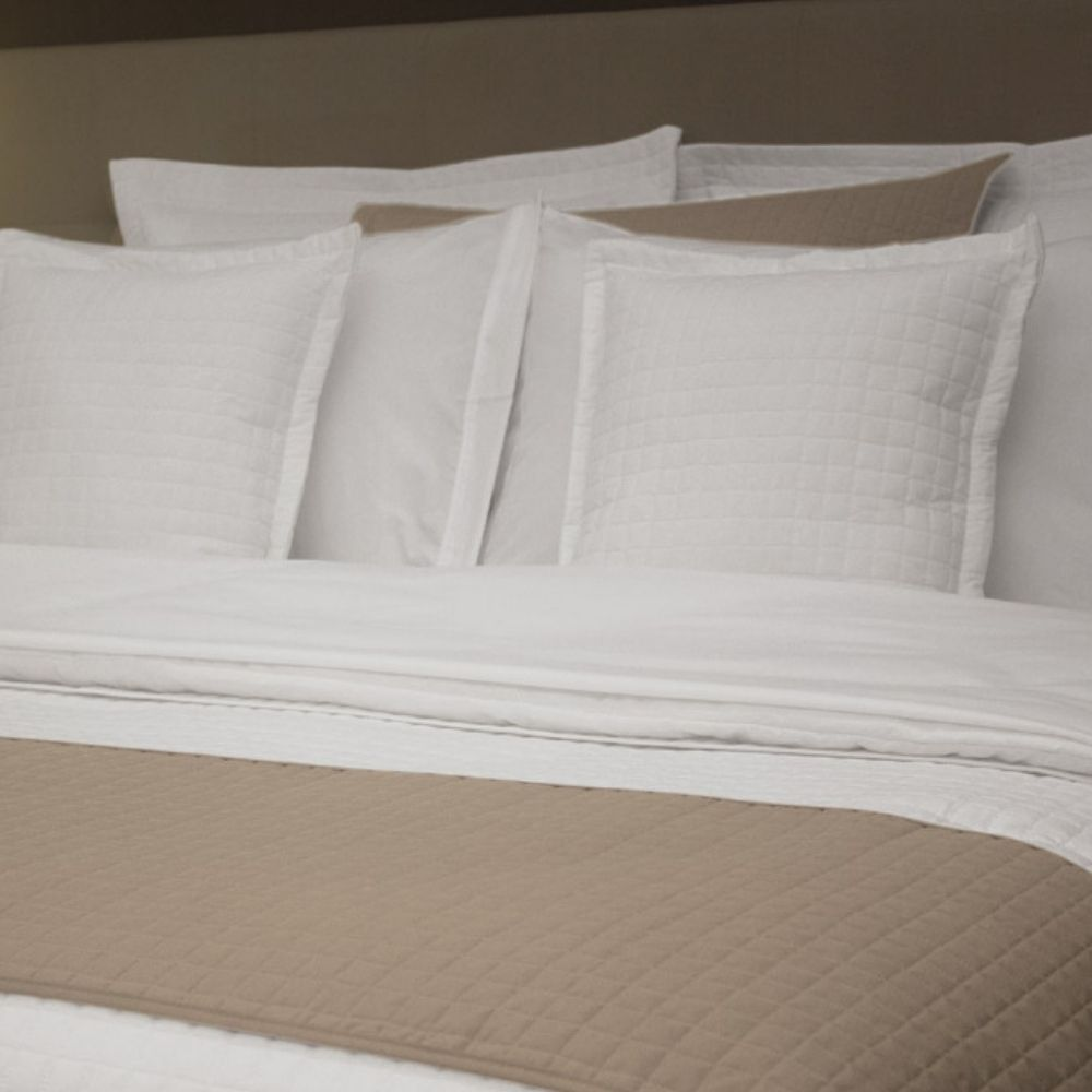 Almofada Teka Allure Branca 45cm x 45cm