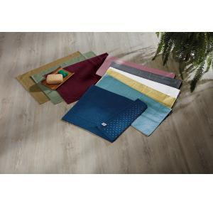 Toalha de Piso Teka Pezinho Antiderrapante Cinza 46cm x 70cm