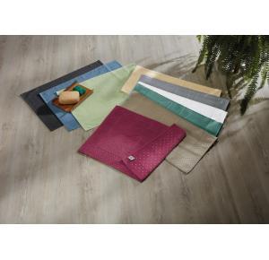 Toalha de Piso Teka Pezinho Antiderrapante Branca 45cm x 70cm 500g/m²