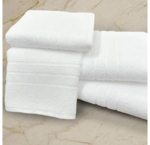 Toalha de Rosto Felpuda Teka Roma Branca 440 g/m²