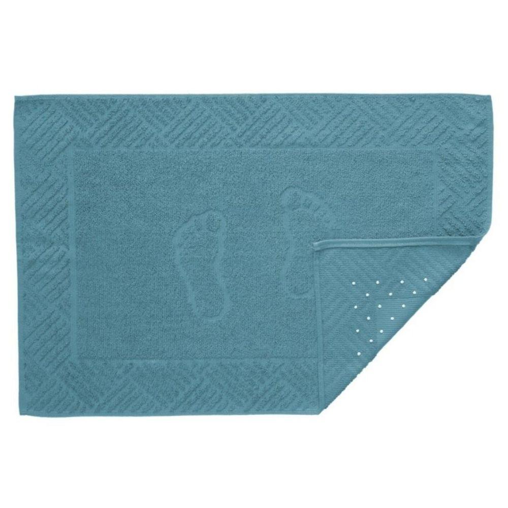 Toalha de Piso Antiderrapante Teka Pezinho Azul Claro 500g/m²
