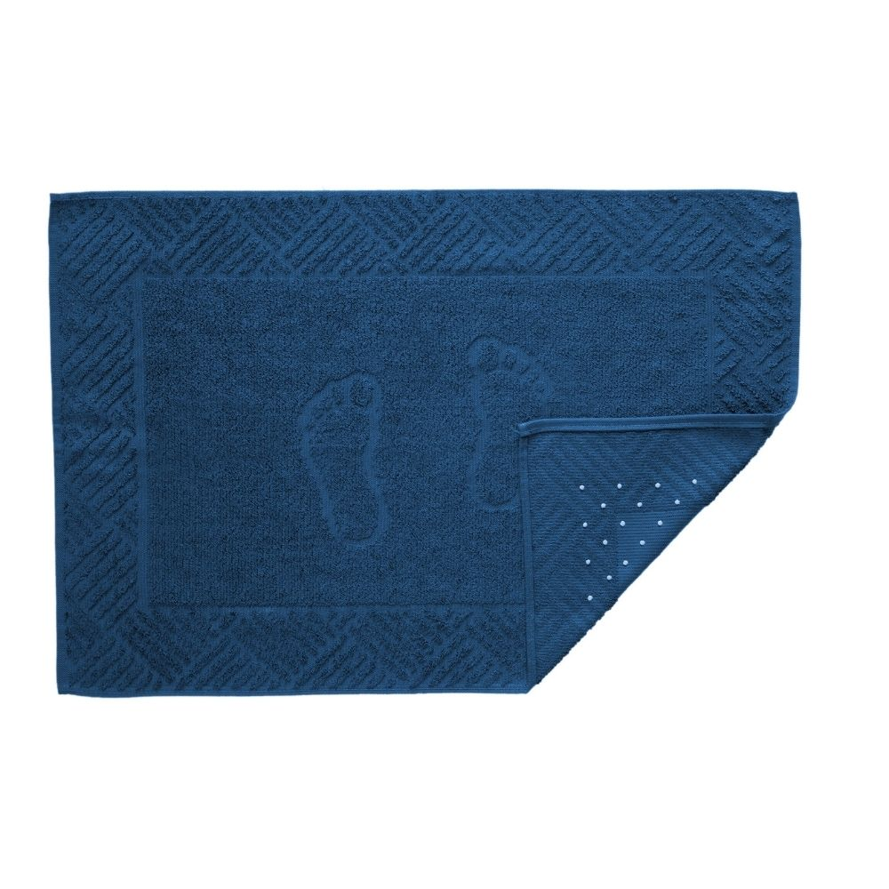Toalha de Piso Teka Pezinho Azul Marinho 500g/m²