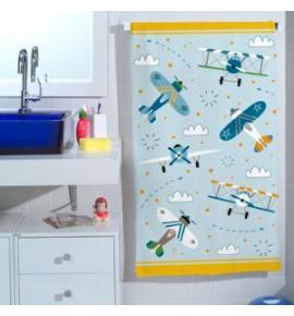 Toalha de Banho Infantil Teka Candy Aviões 65cm x 115xm 250g/m²