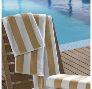 Toalhão Para Praia e Piscina Teka Ibiza Bege 450g/m²