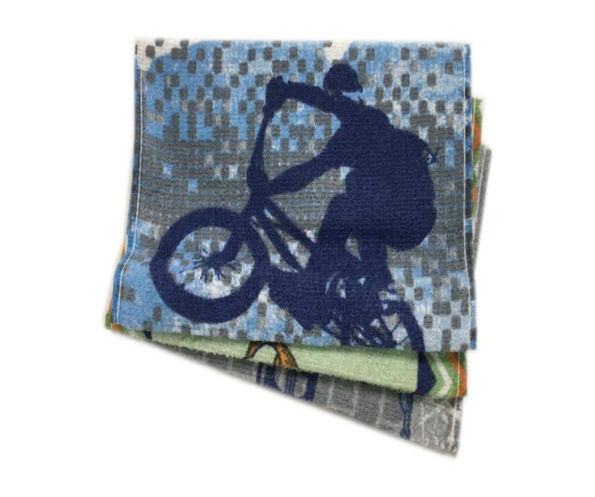 Trio Toalhinhas Recreio Infantil Bike-Coleção Candy-Teka