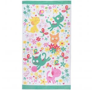 Toalha de Banho Infantil Teka Candy Cats 300g/m²