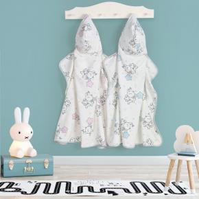 Toalha Infantil com Capuz Teka Kids Elefante Azul 300 g/m²