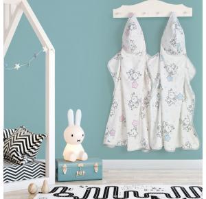 Toalha Infantil com Capuz Teka Kids Elefante Rosa 300g/m²
