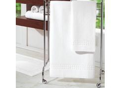 Toalha de Rosto Teka Golden Profiline Branca 500g/m²