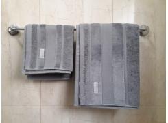 Toalha de Rosto Teka Prima Delicatta Oliver Cinza Aveludada 45cm x 80cm