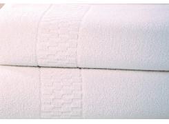 Toalha de Rosto Teka Hospitalar Branca  400 g/m²