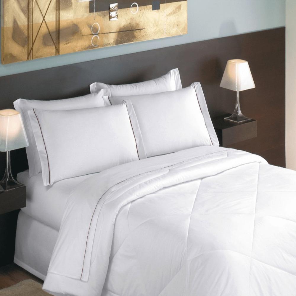 Lençol Casal para Hotel Teka Madri Branco 180 Fios