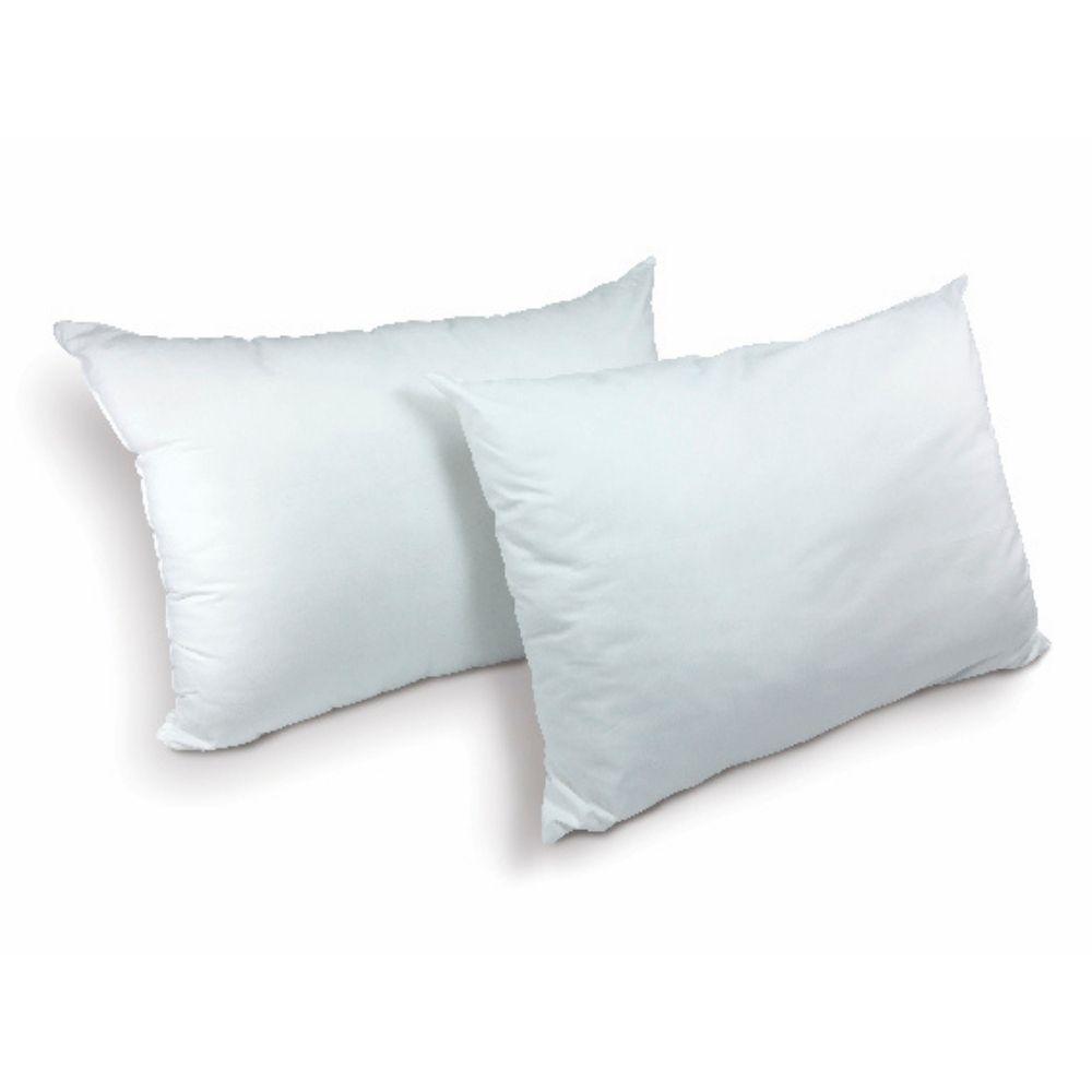 Kit com 2 Travesseiros Percal Teka Oasis Brancos