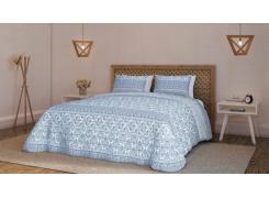 Kit Cobre Leito Queen + Porta Travesseiro Diamante Oriente 150 Fios