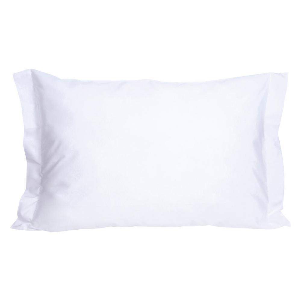 Porta Travesseiro Com Abas Teka Safira Branco 250 Fios