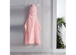 Toalha com Capuz Infantil Teka Kids Rosa 75cm x 90cm 100% Algodão