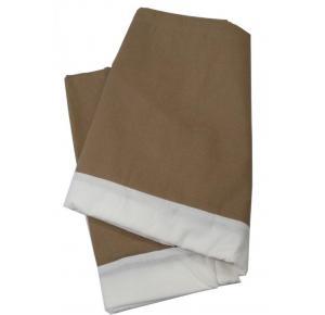Saia para Cama Box Teka Queen (1,58mx1,98m+32cm) Marrom - Coleção Easy Slim