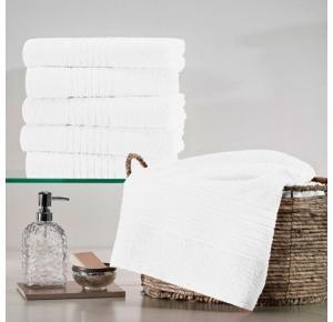 KIT 15 Toalhas de Rosto Branca Escala Profiline - 280 g/m²