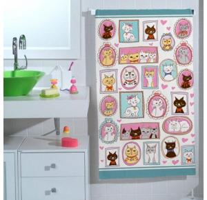 Toalha de Banho Infantil Gatinho Teka (65x115cm)