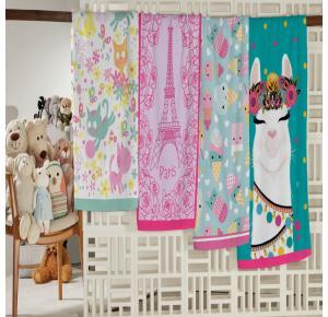 Toalha de Banho Infantil Teka Candy Lhama  300g/m²